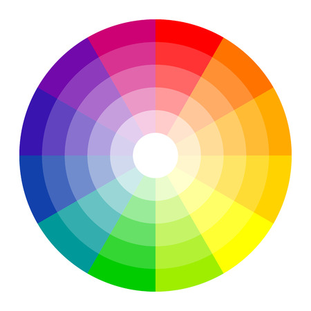 Ilustración de color circle with twelve colors isolated on white background - Imagen libre de derechos