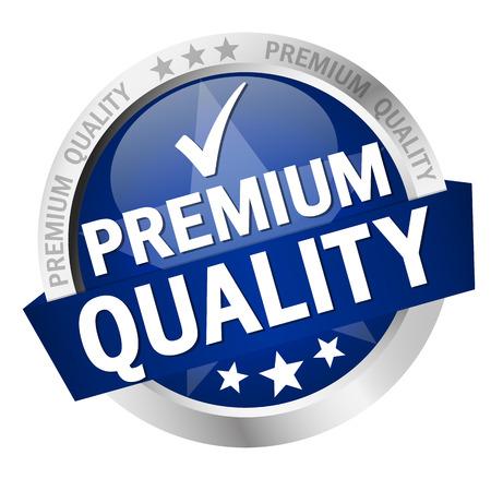 Illustration pour round button with banner and text Premium Quality - image libre de droit