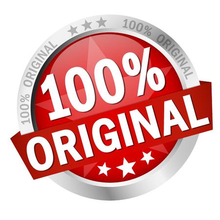 Ilustración de colored button with banner 100 % Original - Imagen libre de derechos