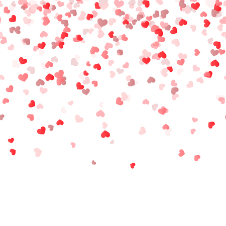 Ilustración de seamless background with different colored confetti hearts for valentine time - Imagen libre de derechos