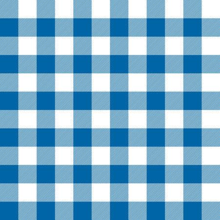 Illustration pour seamless checkered table cloth background colored blue - image libre de droit