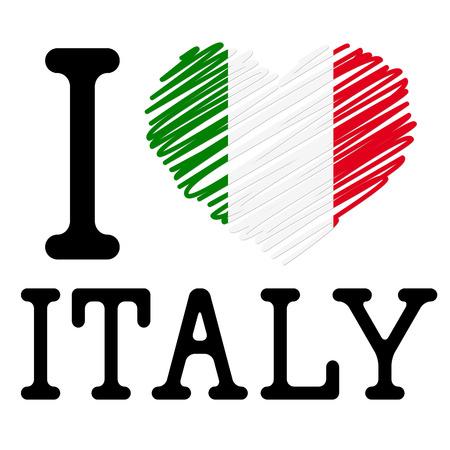 Illustrazione per I LOVE ITALY symbol - Immagini Royalty Free