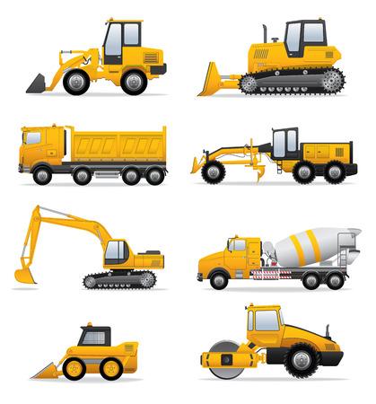 Illustration pour Building machines set - image libre de droit
