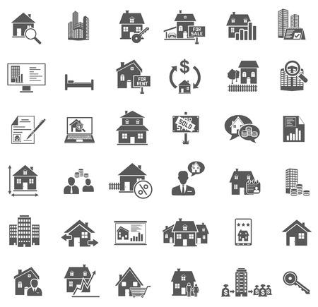 Illustration pour Real Estate Icons - image libre de droit
