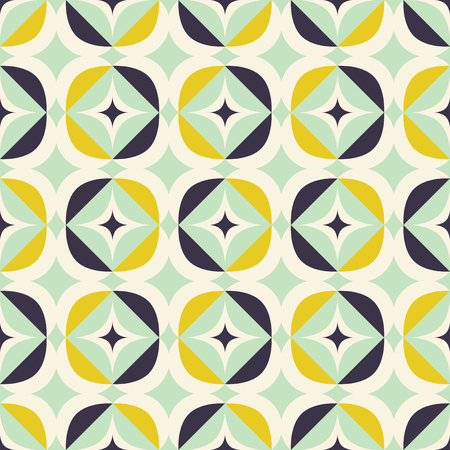 Illustration pour Retro seamless pattern in Scandinavian style with geometric elements. - image libre de droit