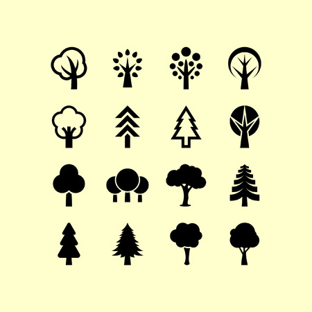 Illustration for Trees icon set - Royalty Free Image