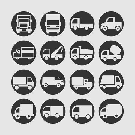 Illustrazione per truck icon set - Immagini Royalty Free
