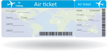 Illustration pour Variant of air ticket isolated on white. Vector illustration - image libre de droit