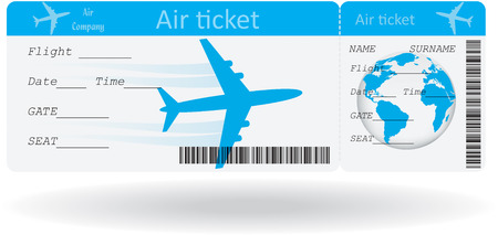 Illustration pour Variant of air ticket isolated on white illustration - image libre de droit