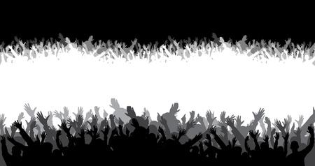 Illustration pour Crowd silhouette - image libre de droit