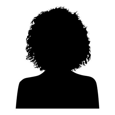 Ilustración de Woman Head Silhouette - Imagen libre de derechos