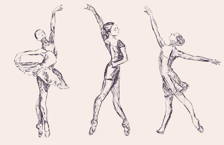 Illustration for Ballet dancers - Royalty Free Image