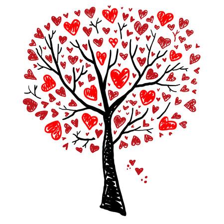 Foto de Tree with Hearts - Imagen libre de derechos