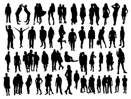Illustrazione per people silhouettes - Immagini Royalty Free