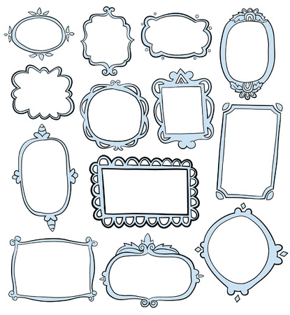 Illustration pour Hand Drawn Frames - image libre de droit