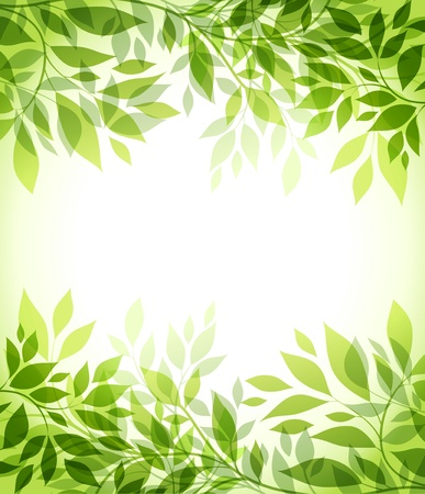 Illustration pour abstract background with green sheet - image libre de droit