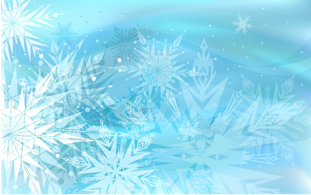 Illustration for Beautiful blue winter background with snowflakes - Royalty Free Image