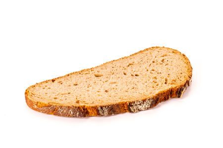 Photo pour one single slice of bread isolated on white background, front view - image libre de droit