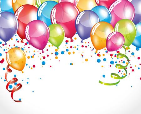 Illustration pour Balloons background - image libre de droit