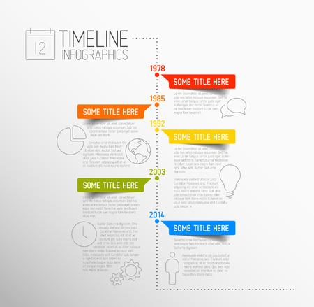 Ilustración de Vector Infographic timeline report template with icons - Imagen libre de derechos
