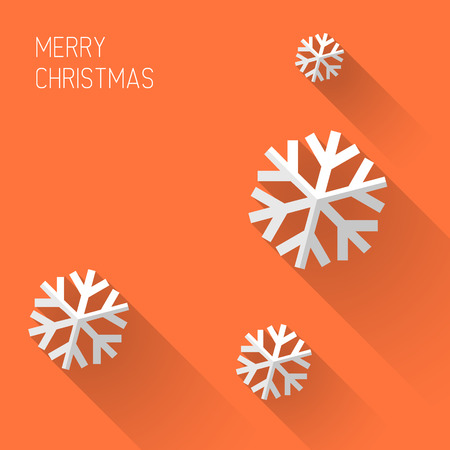 Illustration for Modern simple minimalistic christmas card with flat design - Royalty Free Image