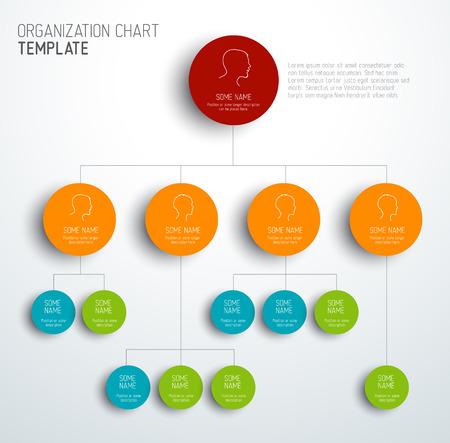 Ilustración de Vector modern and simple organization chart template with profiles - Imagen libre de derechos