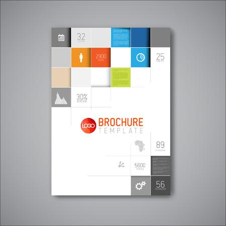 Illustration pour Modern Vector abstract brochure / book / flyer design template - image libre de droit