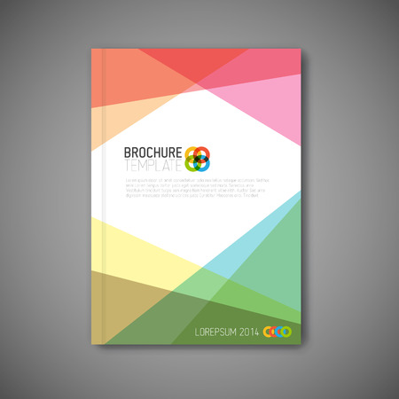Illustration pour Modern abstract brochure / book / flyer design template - image libre de droit