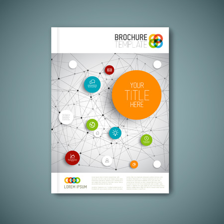 Illustration for Modern abstract brochure, report or flyer design template - Royalty Free Image