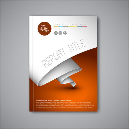 Ilustración de Modern Vector abstract brochure / book / flyer design template with paper - Imagen libre de derechos