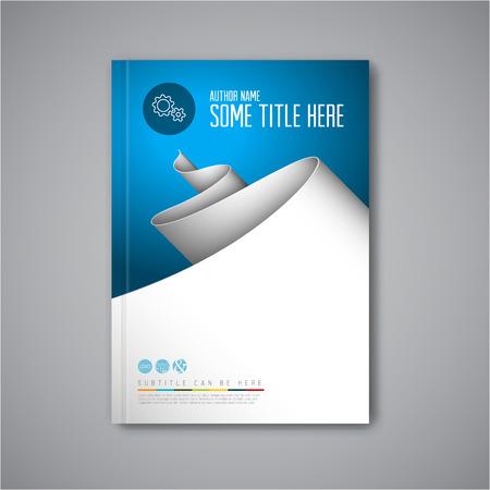 Ilustración de Modern Vector abstract brochure / book / flyer design template with paper - Imagen libre de derechos