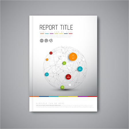 Illustration for Modern Vector abstract brochure, report or flyer design template - Royalty Free Image
