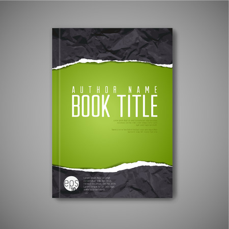 Illustration pour Modern abstract book cover template with teared paper - image libre de droit