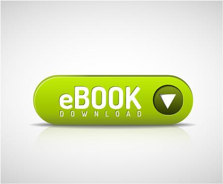 Illustration pour 3d green e-book download button - image libre de droit