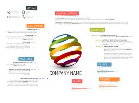 Ilustración de Vector Company overview design template - Imagen libre de derechos