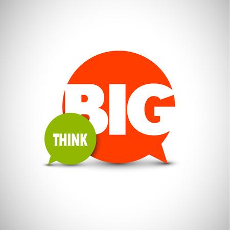 Illustration pour Minimalistic text lettering of an inspirational saying Think big - image libre de droit