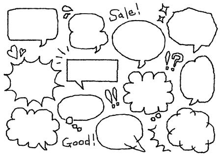 Ilustración de Speech balloon of the freehand drawing - Imagen libre de derechos