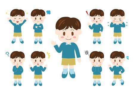 Ilustración de People illustrations set: boy - Imagen libre de derechos