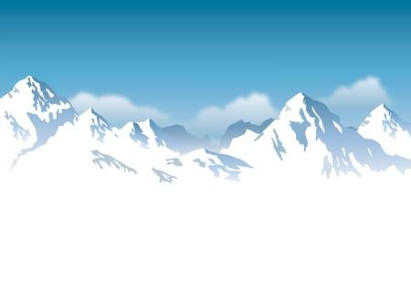 Illustration pour snowcapped mountains - background - image libre de droit