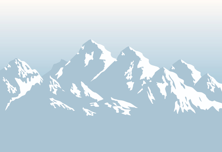 Illustration pour snowcapped mountains - background - image libre de droit