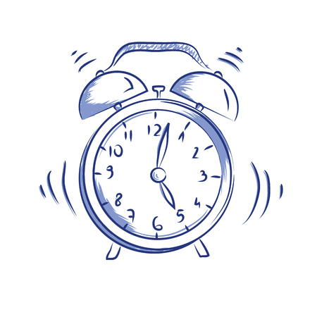 Illustration for Vector doodle icon alarm clock - Royalty Free Image