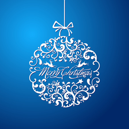 Illustration for The vector image Christmas ball, Christmas tree decorations. vector - Royalty Free Image