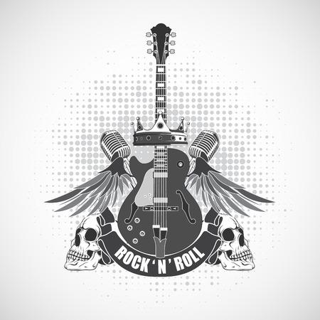Illustration pour The vector image Rock n roll symbol - image libre de droit