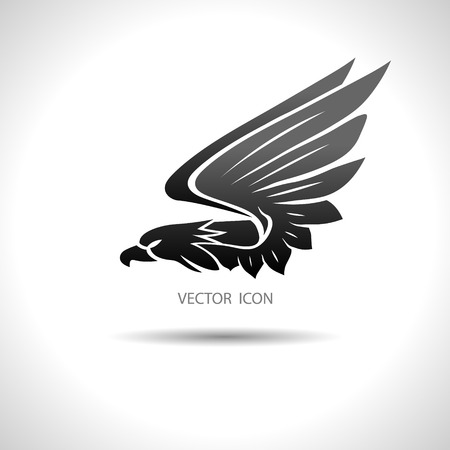Illustration pour The Vector image of Icon with an eagle on a white background. - image libre de droit