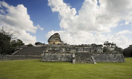 Photo for El Caracol  observatory Chichen Itza in the yucatan was a Maya city and one of the greatest religious center and remains today one of the most visited archeological sites - Royalty Free Image