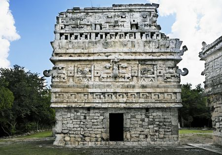 Photo for Chichen Itza in the yucatan was a Maya city and one of the greatest religious center and remains today one of the most visited archeological sites - Royalty Free Image
