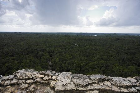 Photo pour view of the lost in the jungle mayan site of Coba in yucatan mexico - image libre de droit