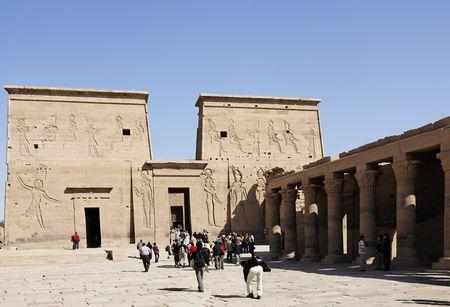 Photo pour view of the Philae temple in aswan upper egypt - image libre de droit