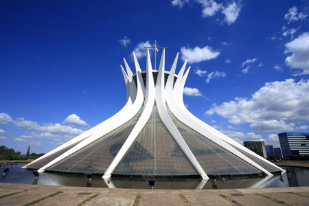 Photo for cathedral of brasilia city capital of brazil - Royalty Free Image