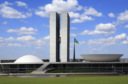 Foto de The National Congress of Brazil in brasilia city capital of brazil - Imagen libre de derechos